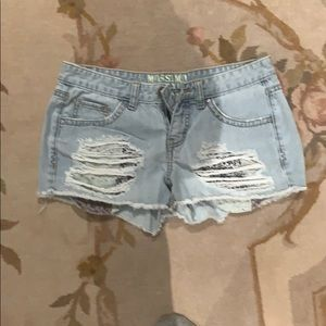 Jean shorts ripped
